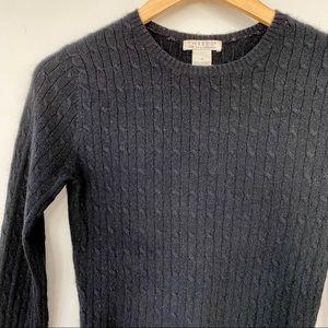 Tweeds black crewneck 💯 cashmere sweater